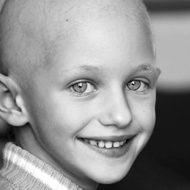 Photo of a girl with cancer